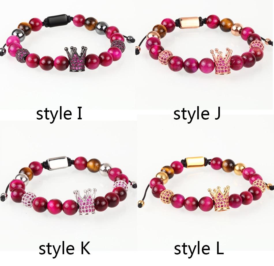 HTB1xCLFMHvpK1RjSZPiq6zmwXXaI Crown Ball Pave Setting Zircon Beads Braided Bracelet Bangle Jewelry