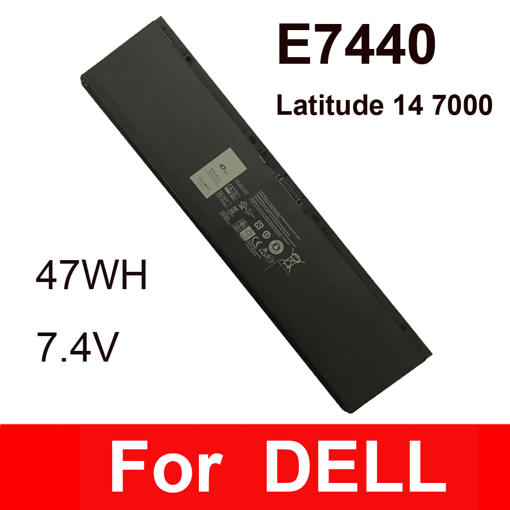 Laptop battery For Dell Latitude E7440 14 7000 For models 34GKR 451-BBFT 451-BBFV 47WH 7.4v notebook battery high quality SZ high capcity 12 cells laptop battery for dell for inspiron 1100 1150 5100 5150 5160 for latitude 100l 312 0079 451 10183 u1223