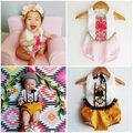 2016 new toddler Newborn Infant kids sleeveless ethnic tassel Romper Baby Boys Girls Clothes Romper Jumpsuit Outfit Set 0-24M