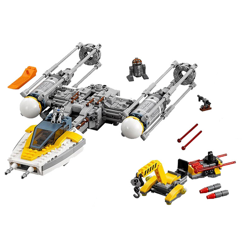 Block Star Wars Series The Star Y Wing Fighter 691Pcs Building Blocks Model Toys For Children