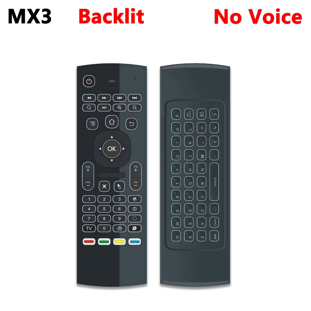 US $9 79 30% OFF|Original MX3 Universal Backlit Fly Air Mouse T3 Smart  Remote Control 2 4G RF Wireless Keyboard for H96 Xiaomi Mi Android TV  Box-in
