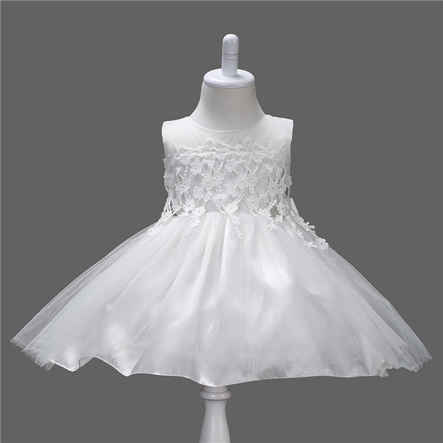 00fbfddb38e70 US $20.89 |Girl Dress Fashion Formal Newborn Wedding Dress Baby Girl Bow  Pattern for Toddler 1 Years Birthday Party Baptism Dress Clothes-in Dresses  ...