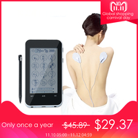 FDA 2 channel smart LCD Health Care TENS Unit electric acupuntura Massager 12 mode Full Body Relax Muscle Therapy pulse Massage