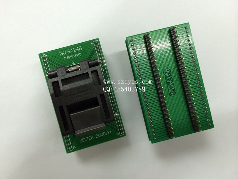 ФОТО IC test socket burning seat QFP48 programming TQFP48P seat converts imported LQFP48 7*7mm Spacing 0.5mm FREESHIPPING