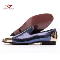 Для мужчин Лоферы классический дизайн одежды стиль мужская обувь на плоской подошве Новая обувь ручной работы свадебные и вечерние туфли