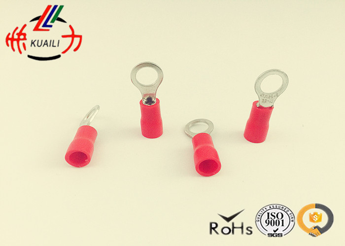 100 PCS COPPER Insulated Ring Terminal RVS 1.25-3.5 Insulated Ring Terminal Connector image