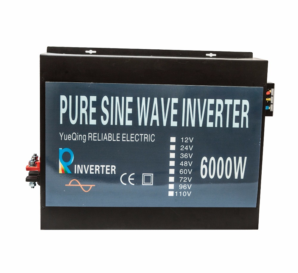 Pure Sine Wave Power Inverte 6000w Peak Power 12000w High Frequency off grid DC to AC 12V 220V 6000W Solar Inverter 6000w peak pure sine wave solar power