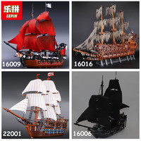 Lepin Pirates Of The Caribbean Lepin 16006 16009 16016 22001 Building Blocks Toys Bricks Legoing 4195