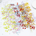 Free shipping 1pcs Water Drop Artificial Acrylic Flower Picks Crystal Flower Branches For Party Wedding Decoration