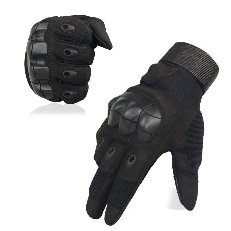 Hombre táctico militar de la FingerGloves duro nudillos guantes para disparar Airsoft de la motocicleta guantes al aire libre