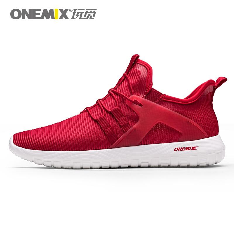 ONEMIX hommes chaussures de course léger mince respirant maille baskets zapatillas hombre deportiva