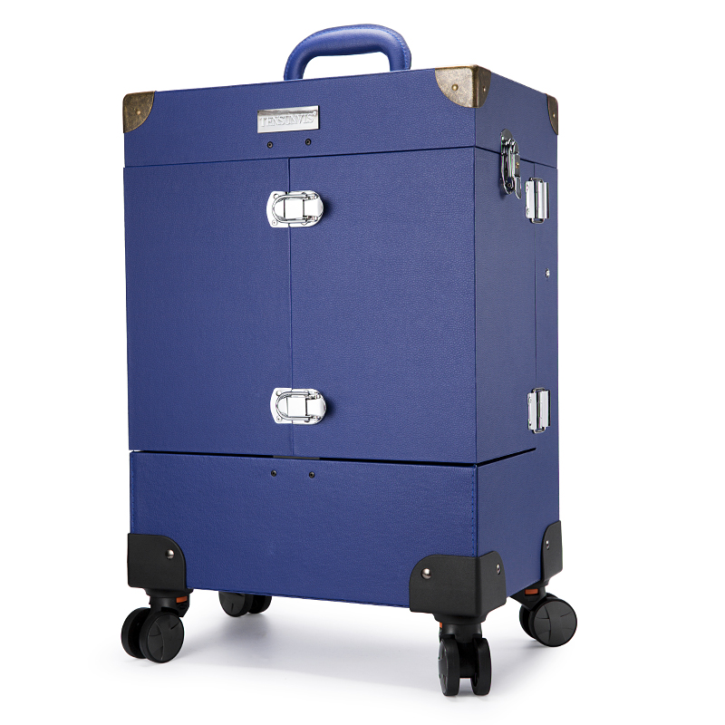 Professional aesthetic quality multifunctional Large trolley wheels trolley cosmetic box makeup case the best beauty case