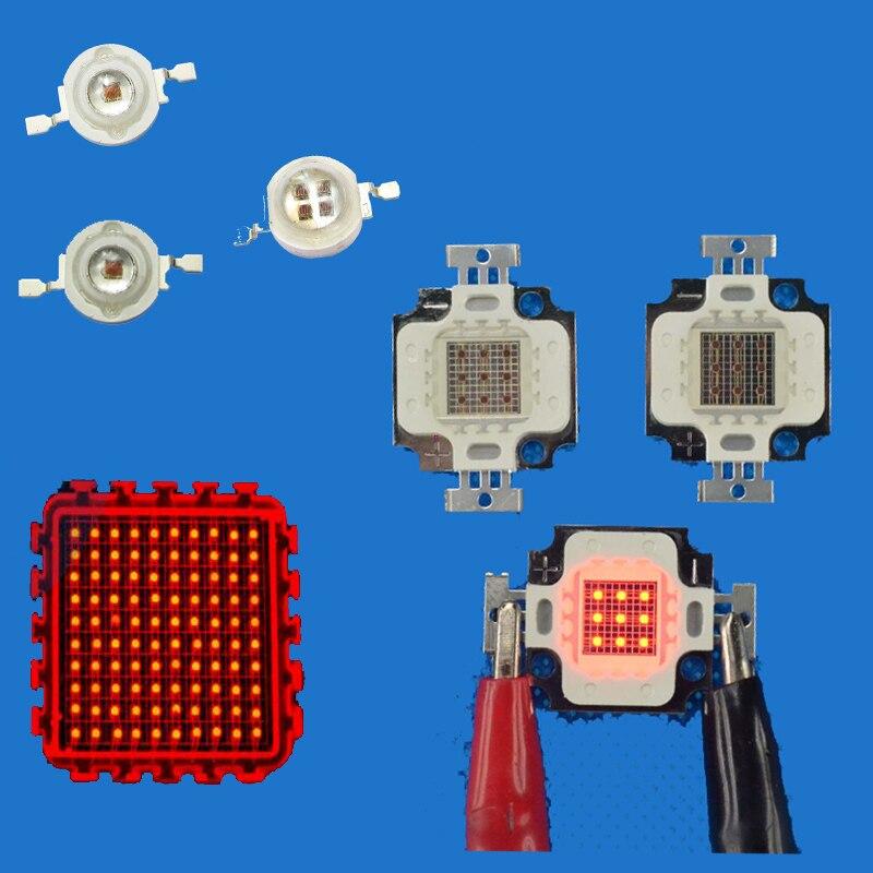 LED Chip Diodes Light 660nm Deep Red Grow Light 660 Nm 1W 3W 5W 10W 20W 30W 50W 100W For Plant Growing Tank Aquarium