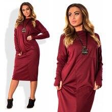 589d45b6932 Grande taille 4xl 5xl 6xl femmes vêtements 2018 à manches longues automne  hiver robe en molleton grande taille lâche robe pour g.