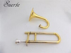 Image 3 - Bb/EINE Sopran Trompete mit mundstück Stehen Gelb messing Slide trompete musical instruments