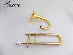 Image 3 - Bb/ソプラノトランペットとマウスピーススタンド黄色真鍮スライドトランペット楽器