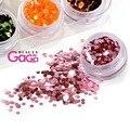 Beautygaga Abastecimento Professional 12 cores/lote 2mm de diâmetro de alta qualidade acrílico nail polonês gel tatuagem prego hexágono brilho
