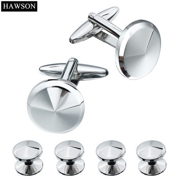 HAWSON - Metal Cufflinks Studs Set with Gift Box