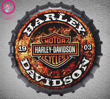 Motocicletas de Cerveza Tapa de la Botella de Metal de La Vendimia Cartel de chapa Bar Pub Hogar Decoración de Pared de Metal de Arte Posterr 35 cm