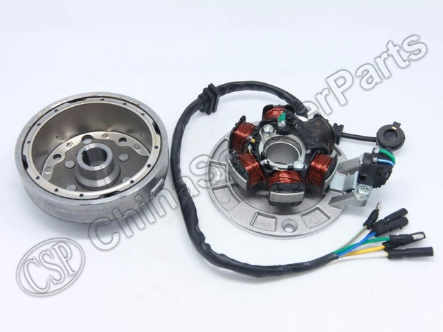 Magneto Stator 6 Pole Coil 6 Wire Flywheel Rotor Kit Lifan 1p55fmj