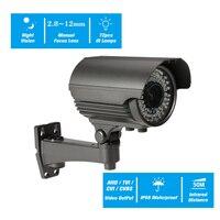 4MP AHD Varifocal Lens IR Bullet CCTV Analog Camera IR CUT Night Vision Infrared Lamps Weatherproof Indoor Outdoor Security