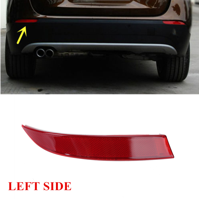 Left Side Rear Bumper Reflector Warning Lights Strips Red Lens For BMW X5 E70 xDrive M Sport 2011-2013 OEM 63147240997 #W095-L