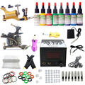 USA Dispatch complete Tattoo starter Kit 2 liner&shader Machine Guns 8 Inks colors Grip Needle Power Set Equipment K003 Freeship
