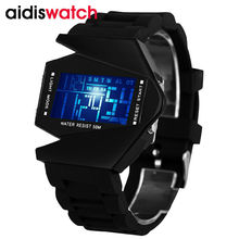Hombres Mujeres Reloj Deportivo Digital LED de Colores Relojes de Piloto Aviador Militar Reloj Hombre Reloj LED Moda Reloj Relogio