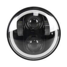 Car RGB Angel Eye Halo Ring Bluetooth Controlled Round LED Fog Lights Headlight Lamp for Jeep Wrangler JK CJ TJ Car Styling