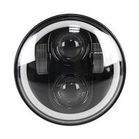 Car RGB Angel Eye Halo Ring Bluetooth Controlled Round LED Fog Lights Headlight Lamp For Jeep