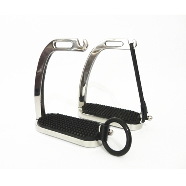 4 5/8 Inches Stainless Steel Peacock Horse Stirrup 2