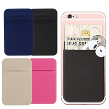 цена на Pocket Wallet Card Holder Pouch Removable Stick-on Case Slim Universal Mini Credit Phone Back Adhesive #5