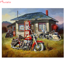 DIY Diamond PaintingmotorcycleCross Stitch Kit Full Embroidery car 5D Square Mosaic by numbers Home Decor