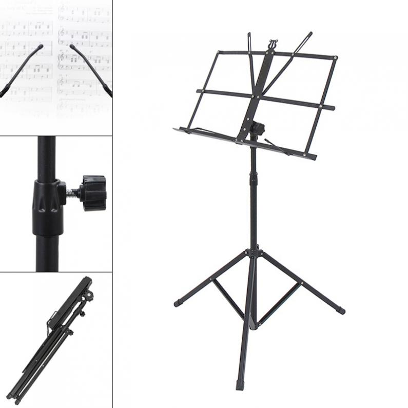 Folding Lightweight Music Stand Aluminum Alloy Tripod Stand Holder Height Adjustable with Carrying Bag-in Guitar Parts & Accessories from Sports & Entertainment