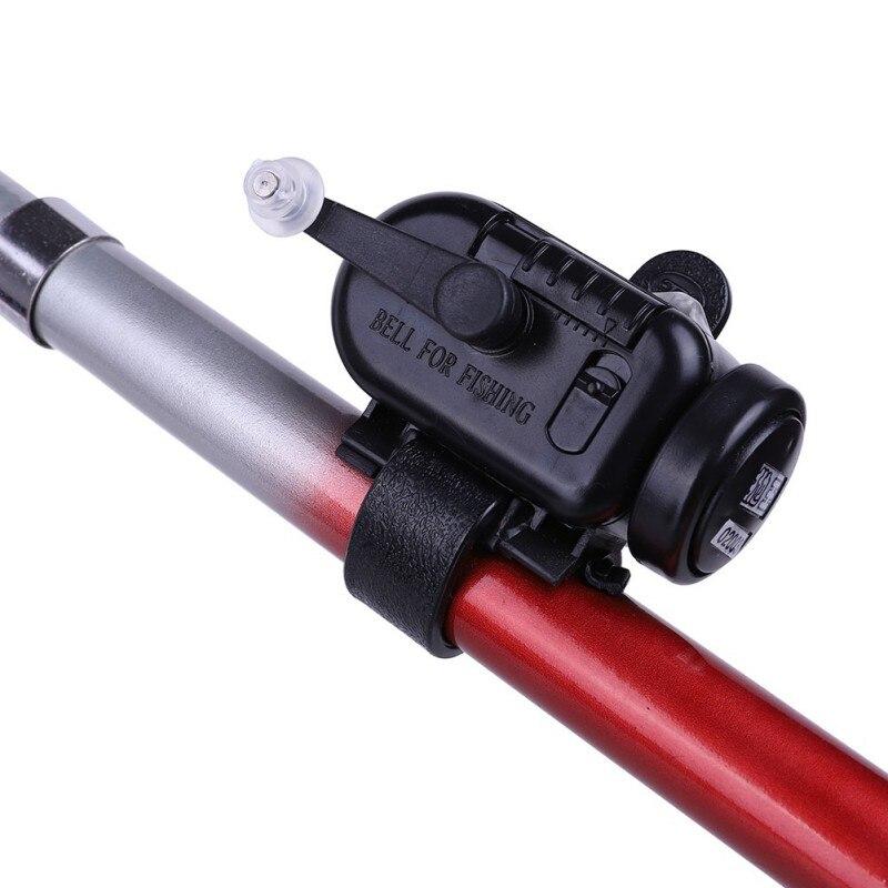 Водонепроницаемый сигнализатор черный Высокочувствительный сигнализатор для укуса рыбы Регулируемый громкость Удочка сигнальное устрой...