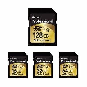 Image 2 - Kimsnot profesjonalna karta SDXC 64GB 128GB 256GB 16GB 32GB karta pamięci SDHC karta pamięci C10 wysoka prędkość 90 Mb/s 600x dla Nikon Canon