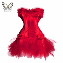 Waist trainer corsets Red / black Sexy Gothic corsets