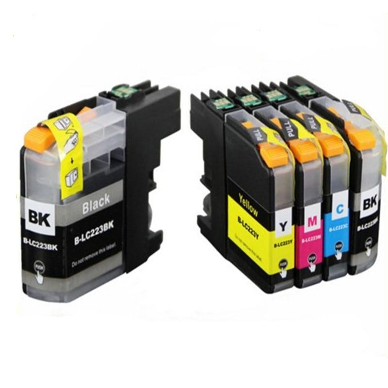 With Chip 5Pcs LC223 LC221 Compatible Ink Cartridge For  MFC-J4420DW/J4620DW/J4625DWJ480DW/J680DW/J880DW Printer