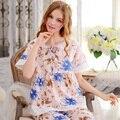 2017 New Women Pajamas Spring and Summer Short-Sleeve Sleepwear Female Woven 100% Cotton Sweet Princess Lounge Set