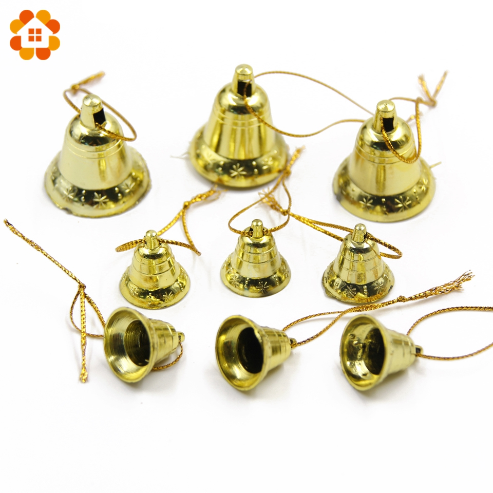 Wholesale!50PCS 2Size Christmas Gold Bells Christmas ...
