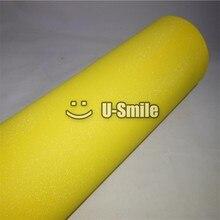High Quality Yellow Bling Sand Diamond Vinyl Sticker Roll Bubble Free Phone Laptop Ipad Cover Size:1.52*30M