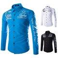 Casual Shirt Men 2016 Famous Brand Clothing Men Shirt Long Sleeve Patchwork Slim Shirts Social Male Holistic Chemise Men A8769