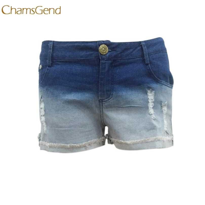 Trwałe 2018 Hotselling spodenki jeansowe damskie Sexy lato plaża na co dzień krótkie Jeans wysokiej talii szorty <= 487g33