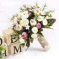 Букет де mariage Элегантный Ручной Работы Искусственные Розы Цветы Свадебный Букет Свадебные Цветы Свадебные Букеты 2017