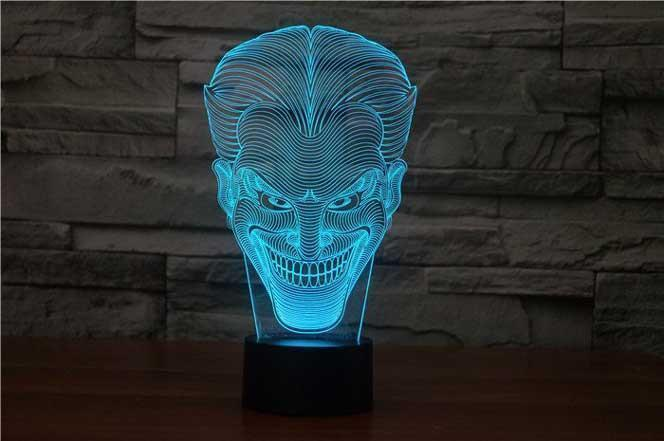 Touch Led Lampled Lamp Joker Batman Dark Dc 3D Acrylic Led 7 Colors Night Light Touch Table Desk Lamp