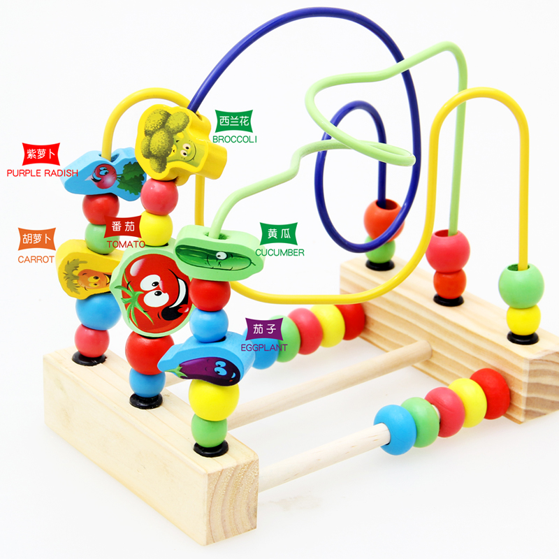 Image 3 - Wooden Math Toy Counting Circles Bead Abacus Wire Maze Roller Coaster Montessori Educational for Baby Kids-in Math Toys from Toys & Hobbies