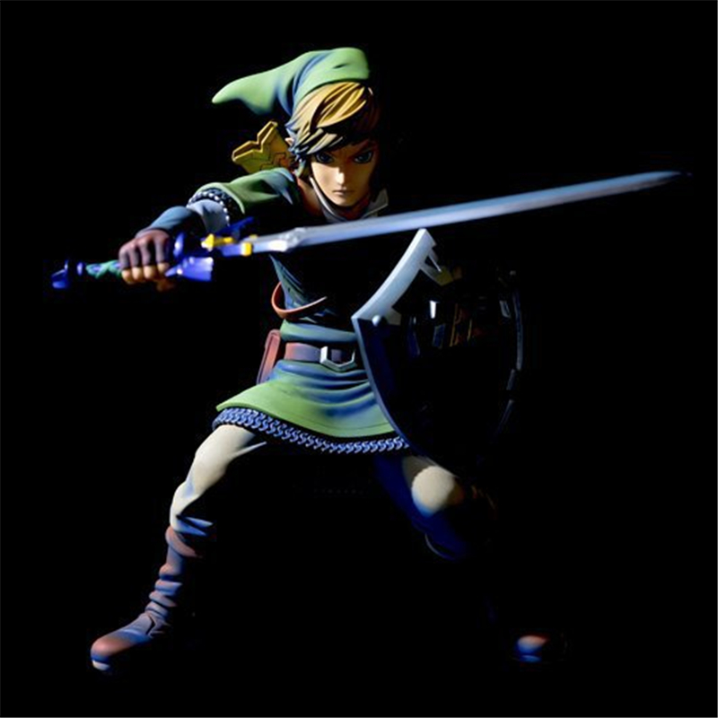The Legend of Zelda Skyward Sword Link 1/7 Scale Painted PVC Action Figure Collectible Model Kids Toys Doll 20CM anime the legend of zelda 2 a link between worlds link figma 284 pvc action figure collectible model kids toys doll 10 5cm
