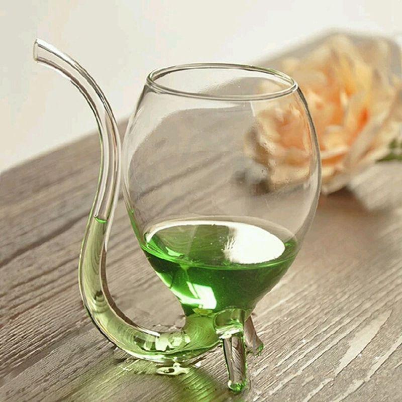 Vaso de whisky de vino vidrio resistente al calor chupar jugo taza de leche taza de vino de té con pajita de tubo para beber LuKLoy LED luces colgantes espejo bola de cristal fuegos artificiales lámpara colgante para desván restaurante Bar Comedor Cocina isla