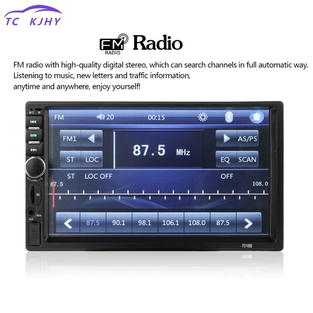 2018 Auto Radio Video Car Mp5 Player Car Audio 7 Inch 2 Din Autoradio Stereo Touch Screen Support Bluetooth Tf Usb Fm Camera 7 inch hd 2 din bluetooth car mp5 player stereo audio fm radio touch screen support aux usb tf phone auto rearview camera