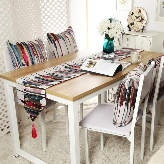 Citt della moda colorful runner bandiera a strisce di colore high end moderno tavolo da t - Runner da tavolo ...